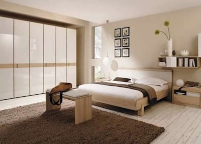 brown-and-white-bedroom