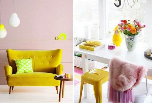 pink-yellow-white