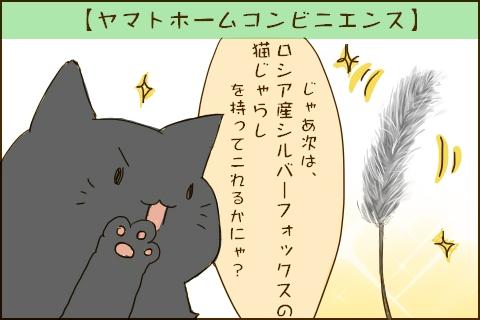 「じゃあ次は、ロシア産シルバーフォックスの猫じゃらしを持ってこれるかにゃ?」